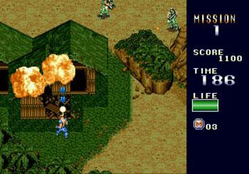 Pantallazo del juego online MERCS (Genesis)