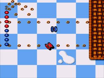Pantallazo del juego online Micro Machines (Genesis)