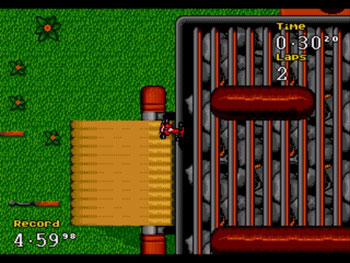 Pantallazo del juego online Micro Machines Turbo Tournament 96 (Genesis)