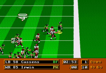 Pantallazo del juego online Mike Ditka Power Football (Genesis)