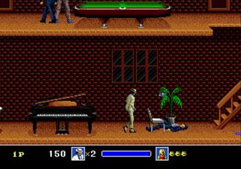 Pantallazo del juego online Michael Jackson's Moonwalker (Genesis)