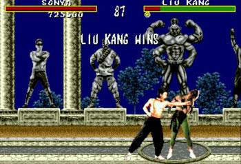 Pantallazo del juego online Mortal Kombat (Genesis)