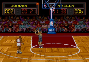 Pantallazo del juego online NBA All-Star Challenge (Genesis)