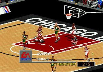 Pantallazo del juego online NBA Live 98 (Genesis)