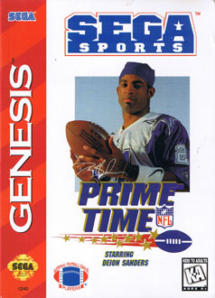 Juego online Prime Time NFL Football starring Deion Sanders (Genesis)