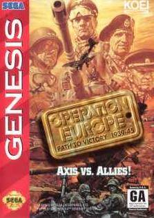 Carátula del juego Operation Europe Path to Victory 1939-45 (Genesis)
