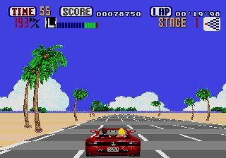 Pantallazo del juego online Out Run (Genesis)