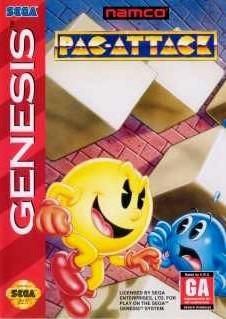 Carátula del juego Pac-Attack (Genesis)