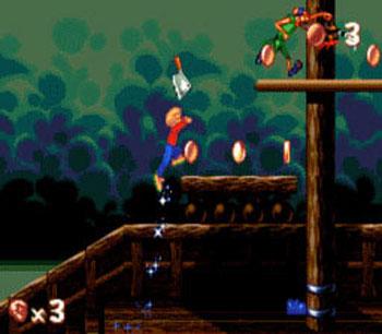 Pantallazo del juego online The Pagemaster (Genesis)