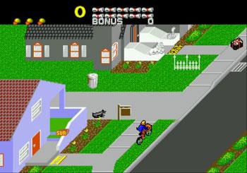 Pantallazo del juego online Paperboy (Genesis)