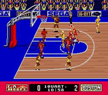 Pantallazo del juego online Pat Riley Basketball (Genesis)