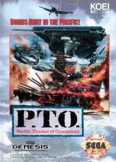 Carátula del juego PTO Pacific Theater of Operations (Genesis)