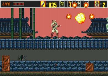 Pantallazo del juego online The Revenge of Shinobi (Genesis)