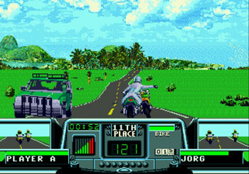Pantallazo del juego online Road Rash 3 (Genesis)