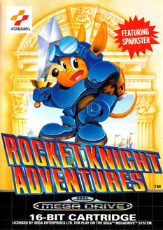 Portada de la descarga de Rocket Knight Adventures