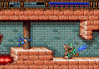 Pantallazo del juego online Rocket Knight Adventures (Genesis)