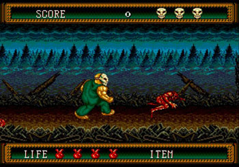 Pantallazo del juego online Splatterhouse 2 (Genesis)
