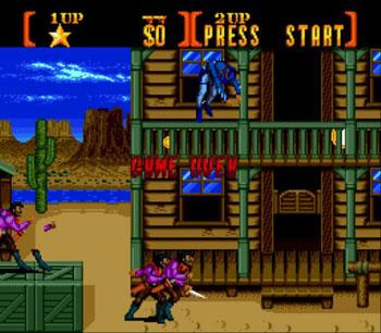 Pantallazo del juego online Sunset Riders (Genesis)