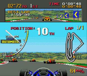 Pantallazo del juego online Ayrton Senna's Super Monaco GP II (Genesis)