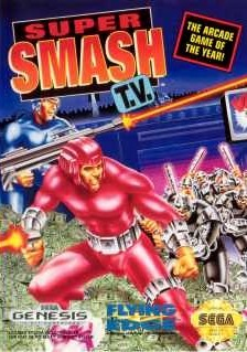 Carátula del juego Super Smash TV (Genesis)