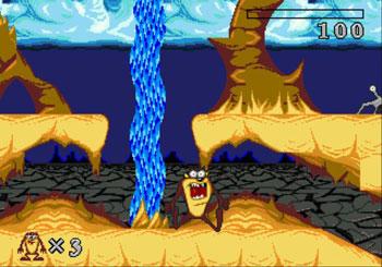 Pantallazo del juego online Taz-Mania (Genesis)
