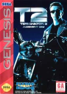 Carátula del juego T2 Judgment Day (Genesis)