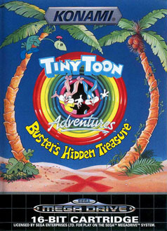Portada de la descarga de Tiny Toon Adventures: Buster's Hidden Treasure
