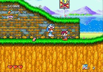 Pantallazo del juego online Tiny Toon Adventures Buster's Hidden Treasure (Genesis)