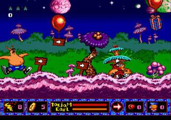 Pantallazo del juego online ToeJam & Earl in Panic on Funkotron (Genesis)