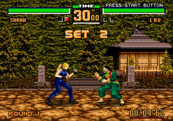 Pantallazo del juego online Virtua Fighter 2 (Genesis)