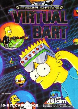 Carátula del juego Virtual Bart (Genesis)
