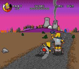Pantallazo del juego online Virtual Bart (Genesis)