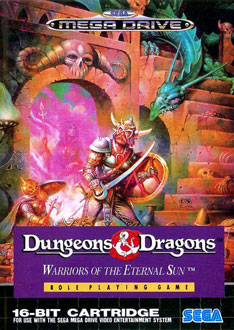 Carátula del juego Dungeons & Dragons - Warriors of the Eternal Sun (Genesis)