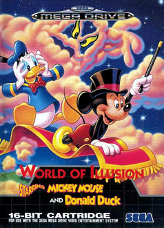 Carátula del juego World of Illusion Starring Mickey Mouse and Donald Duck (Genesis)