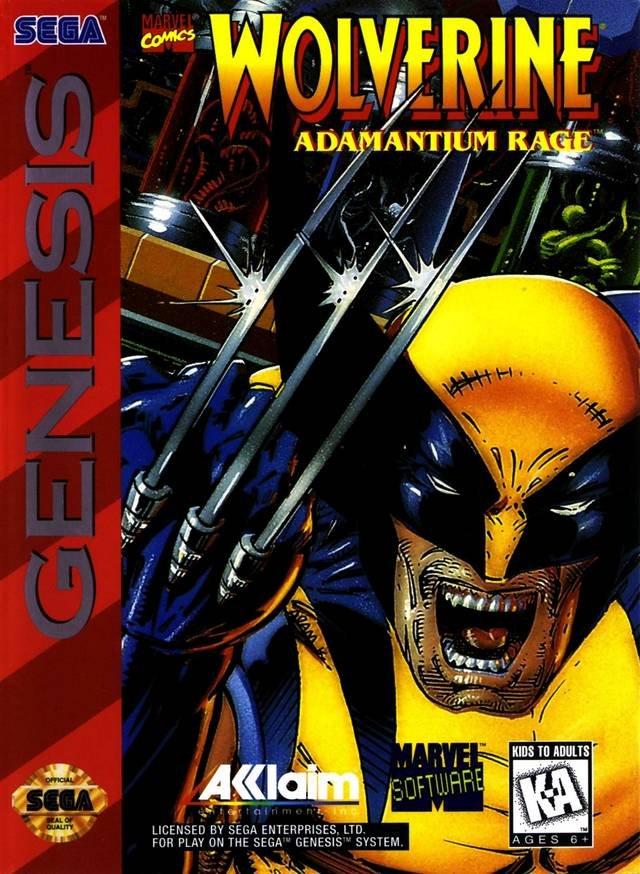 Carátula del juego Wolverine Adamantium Rage (Genesis)