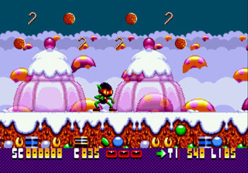 Pantallazo del juego online Zool Ninja of the Nth Dimension (Genesis)