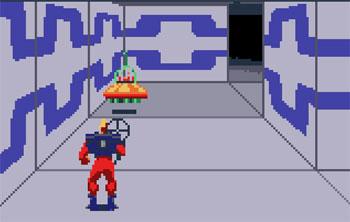 Pantallazo del juego online Xybots (Atari Lynx)