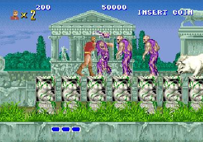 Pantallazo del juego online Altered Beast (Mame)