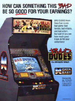 Carátula del juego Bad Dudes vs Dragon ninja (Mame)