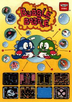 Portada de la descarga de Bubble Bobble