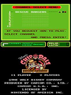 Portada de la descarga de Chip'n Dale: Rescue Rangers