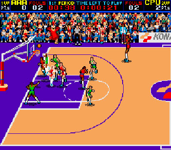 Pantallazo del juego online Double Dribble (Mame)