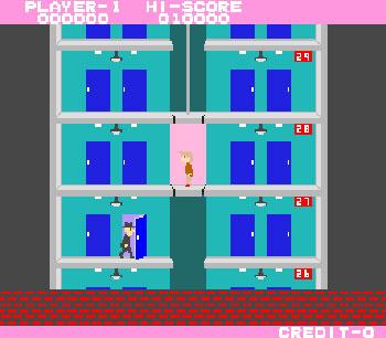 Pantallazo del juego online Elevator Action (Mame)