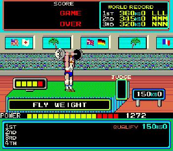 Pantallazo del juego online Hyper Sports (Mame)