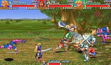 Pantallazo del juego online Knights of the Round (Mame)