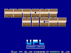 Carátula del juego Mutant Night (MAME)