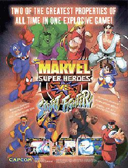 Portada de la descarga de Marvel Super Heroes Vs Street Fighter
