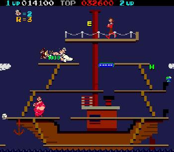 Pantallazo del juego online Popeye (Mame)
