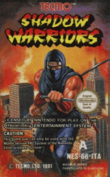 Carátula del juego Shadow warriors (Mame)