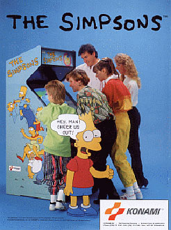 Carátula del juego The Simpsons (Mame)